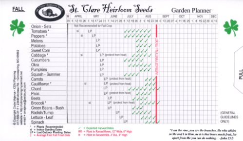 St. Clare Garden Planner - Fall Side
