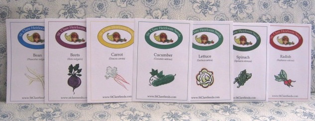 beginner-gBeginner Vegetable Garden Seed Collection - St. Clare Heirloom Seedsarden-seed-collection