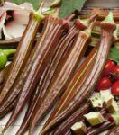 Okra - Red Burgundy - St. Clare Heirloom Seeds