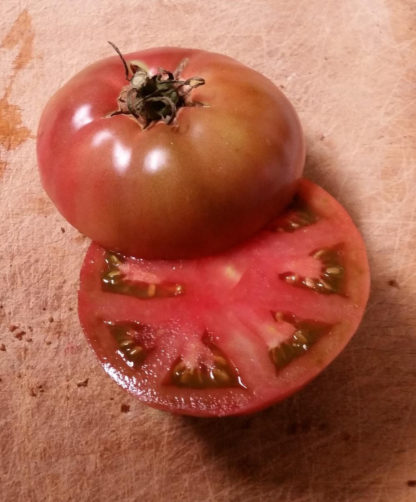 Tomato, Pink and Purple - Cherokee Purple - St. Clare Heirloom Seeds Photo Credit RobynAnne